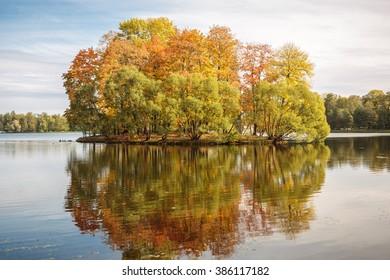 The quiet. Autumn island