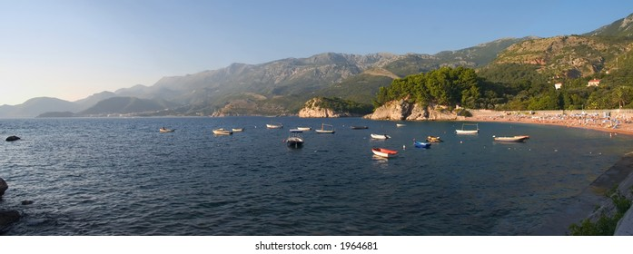 A quiet beach in Montenegro.