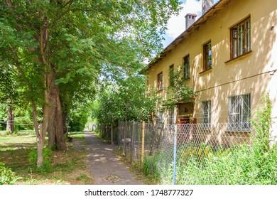 Quiet, cozy courtyard of an old house in Nizhny Novgorod