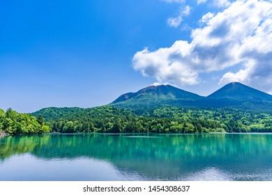A quiet lake onneto in Hokkaido