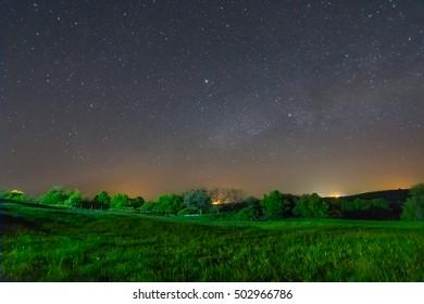 quiet night rural scene