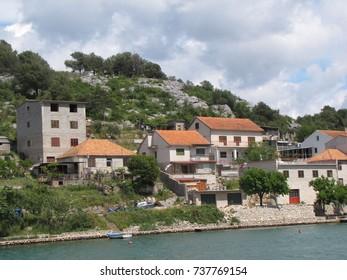 Quiet seaside town