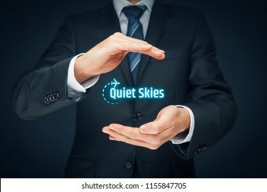 Quiet Skies by TSA concept - a secret passenger surveillance program.
