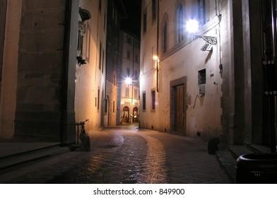 Quiet street Florence, Italy