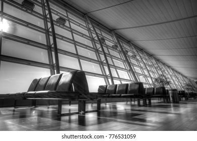 Quiet terminal in Narita