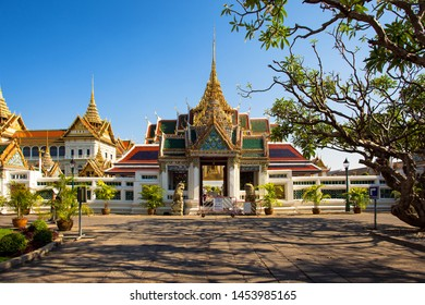 A quieter part of the Wat Phra Kaew Grand Palace complex in Bangkok Thailand, 26th Sept 2015.