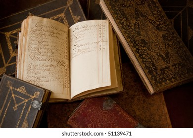 Quill Handwritten Accounting Notebook. Recording colliery workers and managers by name and their Per Diem payroll in shillings. c1650 UK.
