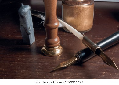 Quill and wax seal