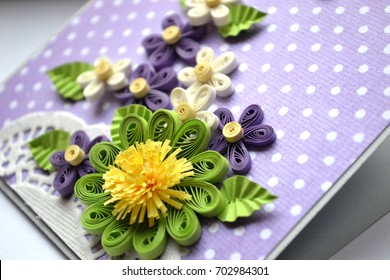 Paper quilling images stock photos vectors shutterstock quilling flowers made of paper card design mightylinksfo