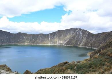 Quilotoa lake, near the city of Latacunga, Ecuador