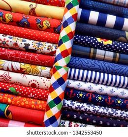 Quilt Fabric Squares Fat Quarters Textiles Warm Cool Palette Rolls