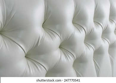 Quilted leather headboard