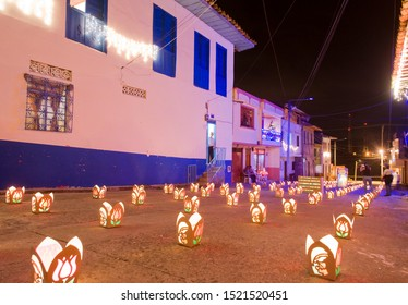 Quimbaya, Quindio, Armenia, Colombia. June 16, 2010: Day of the candles