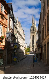 Quimper Finistere Brittany FranceRue Sainte Catherine 24th September 2015 Rue Sainte Catherine