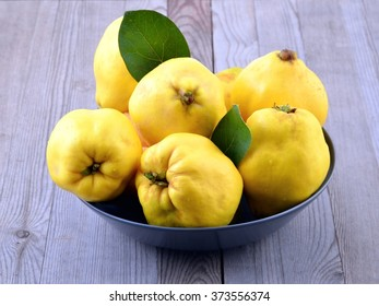 Quince. Ripe yellow autumn fruits.