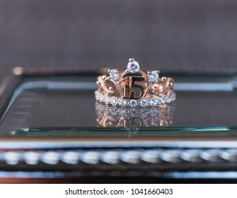 quinceanera ring on glass box