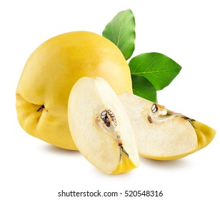 quinces isolated on the white background