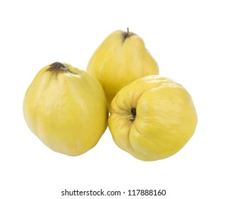 quinces on  white background