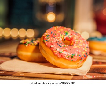 Quincy, Massachusetts - APRIL - 2017 : Dunkin Donuts served
