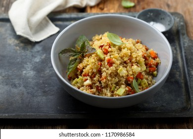 Quinoa with baked vegetables