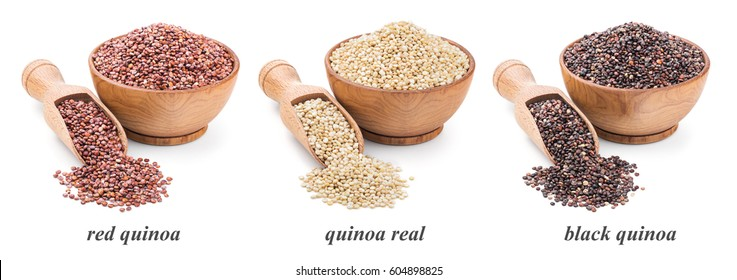 quinoa collection isolated on white background