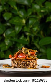 Quinoa with grilled vegetables