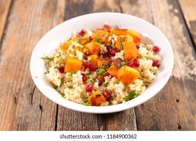 quinoa, pumpkin and pomegranate