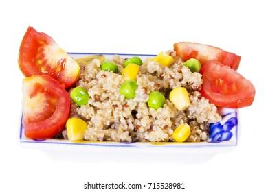 quinoa salad isolated on white