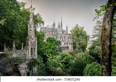 Quinta da Regaleira castle, Monteiro Palace, Sintra, Portugal