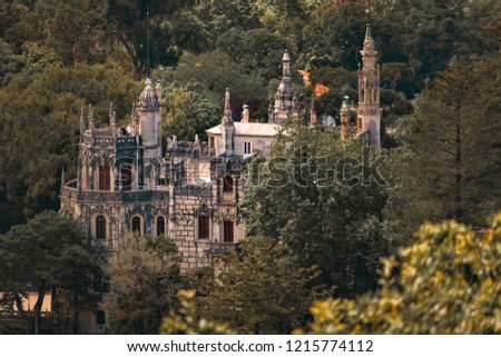 Quinta da Regaleira, one of the many palaces in the village of Sintra