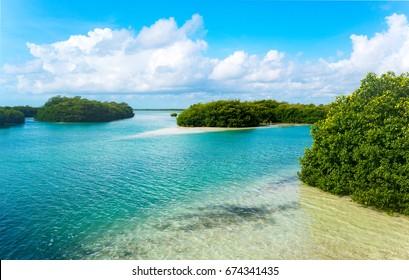 Quintana Roo, Mexico, the Sian Ka'an lagoon reserve