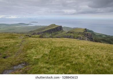 Quiraing Mountains in Isle of Skye, Scotland