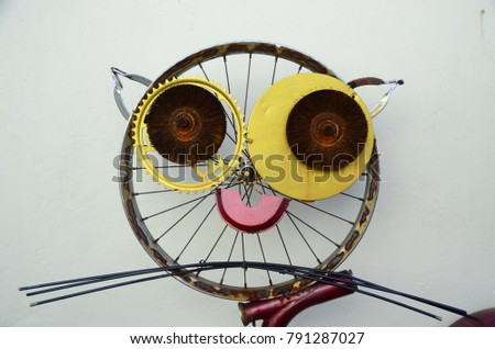 Quirky Street Art Made Bicycle Parts Stock Photo Edit Now