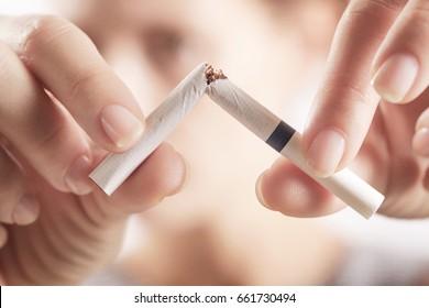Quit smoking concept - studio shoot