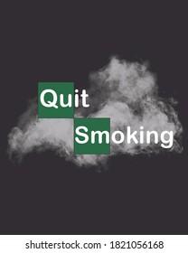 QUIT SMOKING DESIGN FROM BREAKING BAD LOGO