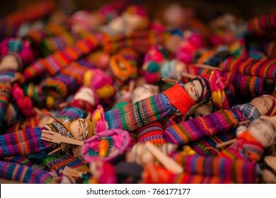 Quitapenitas-  colorful Guatemalan Worry Dolls