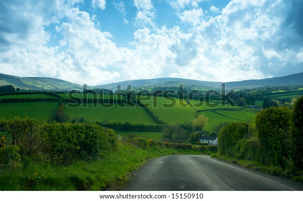 Quite country drive in Northern Ireland uk