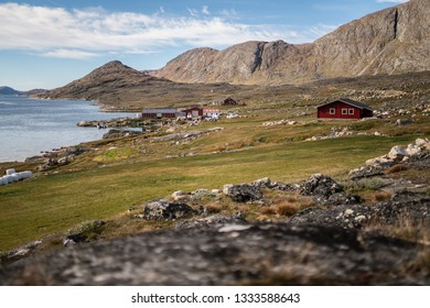 Quite day in Kangerluaarsorujuk. Sheep farmer place in South Greenland.