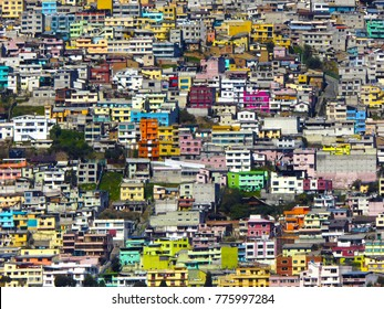 QUITO, Ecuador - Colorful slums in the old town