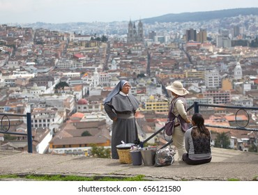 QUITO, ECUADOR - FEBRUARY 2: View of Quito. The city of Quito is one of the most beautiful capitals of South America. Quito, Ecuador on February 2, 2017