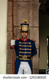 Quito, Ecuador - November 13, 2009: Government palace guard