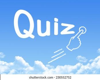 quiz message cloud shape