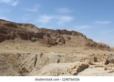 Qumran caves in Qumran National Park, Israel