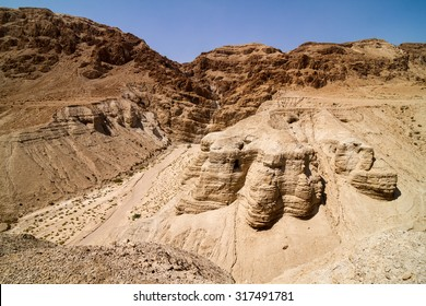 Qumran caves in Qumran National Park, Israel