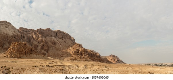 Qumran Caves near the Dead Sea, Israel, where the Dead Sea Scrolls were found.