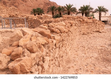 Qumran, Israel - June 5 2019 The site of Khirbet Qumran is located in the West Bank, and is the place where the Dead Sea Scrolls were found on 1947