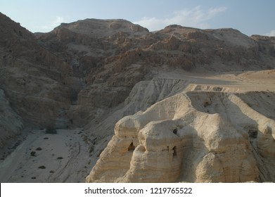 Qumran in Israel , where the dead sea scrolls were found