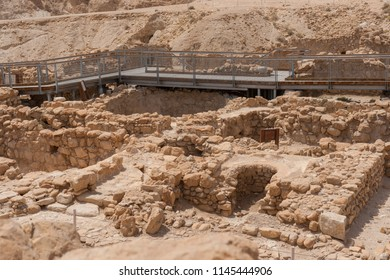 Qumran National Park, where the dead sea scrolls were found, Israel