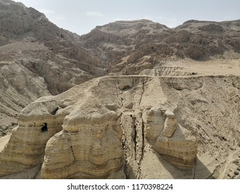 Qumran national park where the Qumran scrolls were found near the Dead Sea, Israel