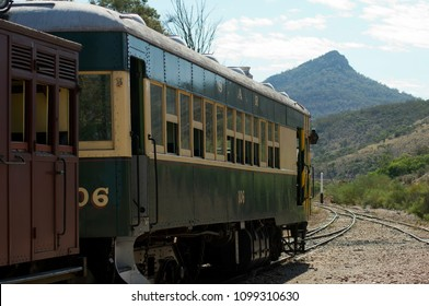 Quorn, South Australia -  22 April 2018: scenic day trip on historic Pichi Richi Railway